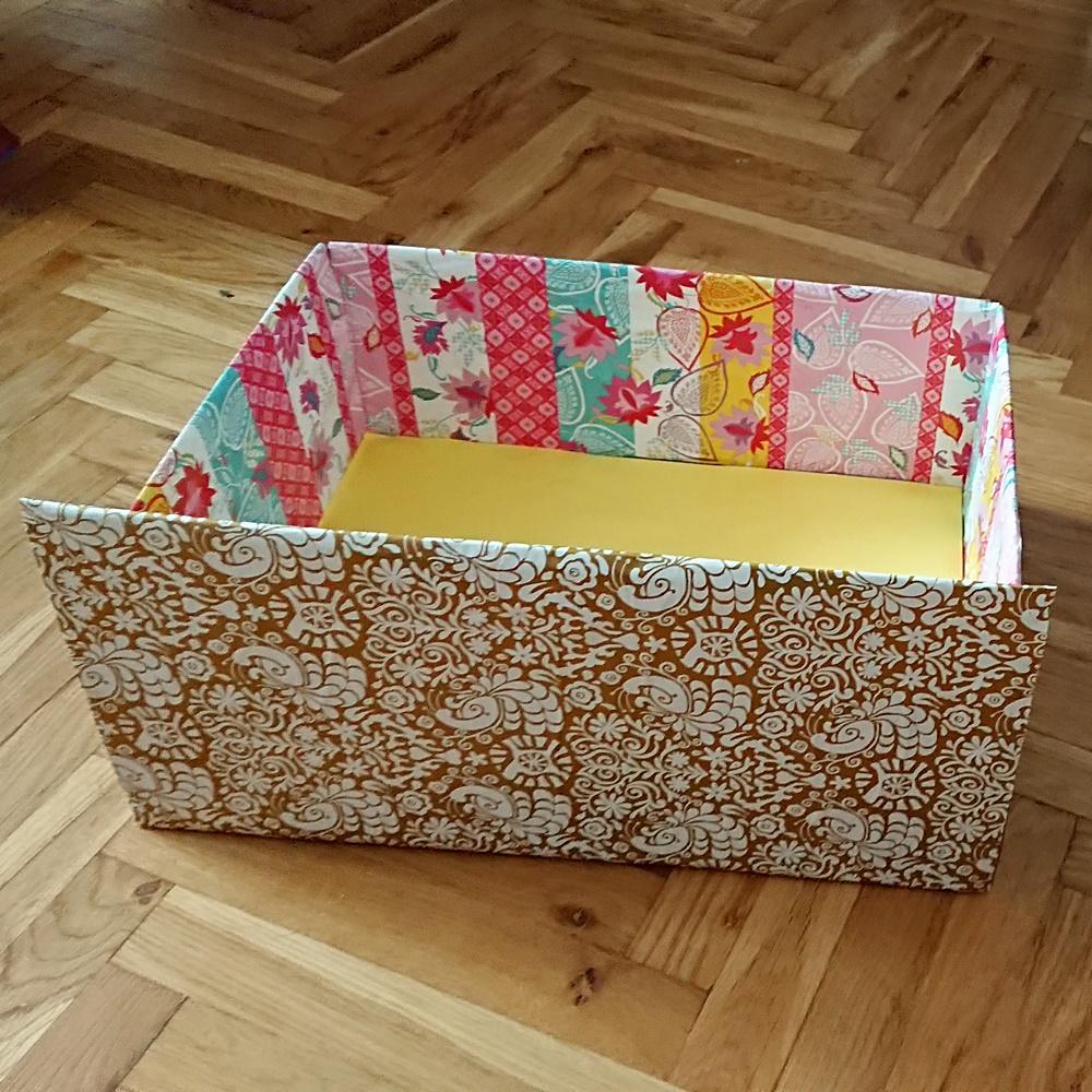 Karton przerabiany na szufladę. Czwarty tydzień wyzwania #dwaR